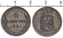 Изображение Монеты Нассау 6 крейцеров 1822 Серебро