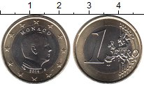 Изображение Мелочь Монако 1 евро 2014 Биметалл UNC-