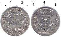 Изображение Монеты Данциг 2 гульдена 1932 Серебро XF Вольный город Данциг