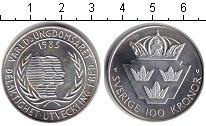 Изображение Монеты Швеция 100 крон 1985 Серебро XF