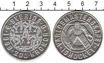 Изображение Монеты Швеция 200 крон 1989 Серебро UNC- Хоккеист