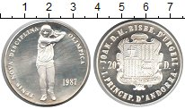 Изображение Монеты Андорра 20 динерс 1987 Серебро UNC-