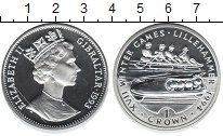 Изображение Монеты Гибралтар 1 крона 1993 Серебро Proof- Елизавета II. XVII З