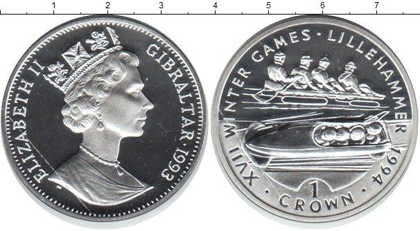Картинка Монеты Гибралтар 1 крона Серебро 1993