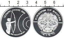 Изображение Монеты Бутан 100 нгултрум 2000 Серебро Proof Олимпийские игры 200