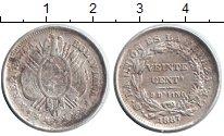 Изображение Монеты Боливия 20 сентаво 1887 Серебро XF