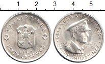 Изображение Монеты Филиппины 50 сентаво 1947 Серебро XF Генерал МакАртур.