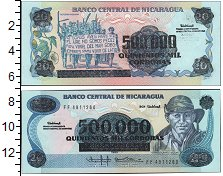 Изображение Банкноты Никарагуа 500000 кордобас 0  UNC-