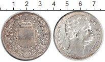 Изображение Монеты Италия 5 лир 1879 Серебро  Умберто I.