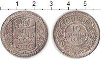 Изображение Монеты Тунис 10 франков 1932 Серебро XF