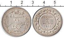 Изображение Монеты Тунис 2 франка 1916 Серебро XF