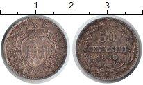 Изображение Монеты Сан-Марино 50 сентесим 1898 Серебро VF