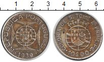 Изображение Монеты Сан-Томе и Принсипи 10 эскудо 1929 Серебро  Колония Португалии.