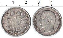 Изображение Монеты Франция 1 франк 1858 Серебро VF