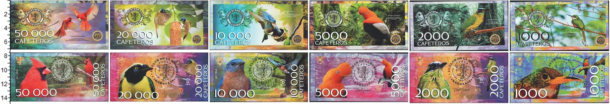 Изображение Банкноты Колумбия Колумбия 2014 2016  UNC