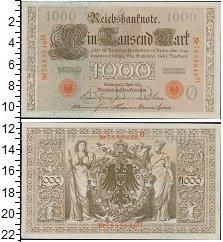 Изображение Банкноты Германия 1.000 марок 1910  XF