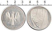 Изображение Монеты ФРГ 10 марок 1990 Серебро XF 800-летие Тевтонског