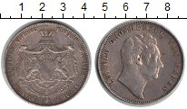 Изображение Монеты Баден 2 талера 1852 Серебро XF