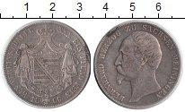 Изображение Монеты Саксен-Майнинген 1 талер 1866 Серебро VF Бернхард