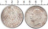 Изображение Монеты Баден 5 марок 1913 Серебро XF Фридрих II
