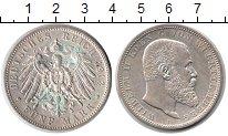 Изображение Монеты Вюртемберг 5 марок 1913 Серебро UNC-