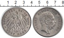 Изображение Монеты Саксония 5 марок 1898 Серебро VF