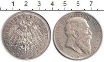 Изображение Монеты Баден 5 марок 1902 Серебро XF Фридрих