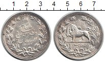 Изображение Монеты Иран 5000 динар 1320 Серебро XF