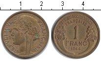 Изображение Монеты Французская Африка 1 франк 1944 Медь XF
