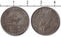 Изображение Монеты Восточная Африка 50 центов 1944 Серебро XF