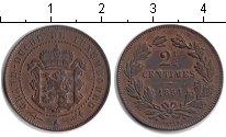Изображение Монеты Люксембург 2 1/2 сантима 1854 Медь