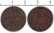 Изображение Монеты Брауншвайг-Люнебург 1 пфенниг 1815 Медь