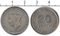 Изображение Монеты Малайя 20 центов 1945 Серебро XF Георг VI.
