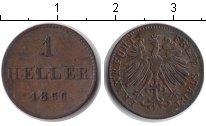 Изображение Монеты Франкфурт 1 геллер 1856 Медь
