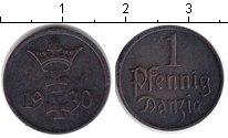 Изображение Монеты Данциг 1 пфенниг 1930 Медь
