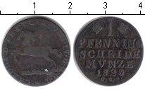 Изображение Монеты Брауншвайг-Люнебург 1 пфенниг 1823 Медь