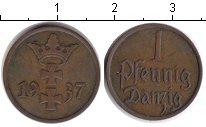 Изображение Монеты Данциг 1 пфенниг 1937 Медь