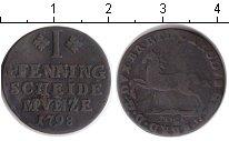 Изображение Монеты Брауншвайг-Люнебург 1 пфенниг 1798 Медь