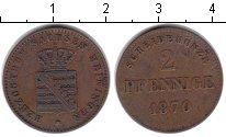 Изображение Монеты Саксен-Майнинген 2 пфеннига 1870 Медь
