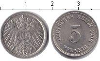 Изображение Монеты Германия 5 пфеннигов 1908 Медно-никель XF