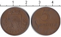 Изображение Монеты Латвия 5 сантим 1922 Медь