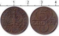 Изображение Монеты Польша 5 грошей 1925 Медь XF
