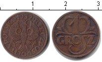 Изображение Монеты Польша 1 грош 1932 Медь