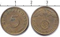 Изображение Монеты Третий Рейх 5 пфеннигов 1938 Медь XF В
