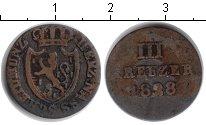 Изображение Монеты Нассау 3 крейцера 1828 Медь
