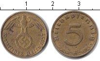 Изображение Монеты Третий Рейх 5 пфеннигов 1937 Медно-никель XF