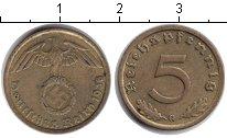 Изображение Монеты Третий Рейх 5 пфеннигов 1938 Медь XF G