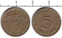 Изображение Монеты Третий Рейх 5 пфеннигов 1938 Медь VF G