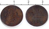 Изображение Монеты Саксония 1 хеллер 1824 Медь