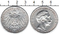 Изображение Монеты Пруссия 3 марки 1912 Серебро VF